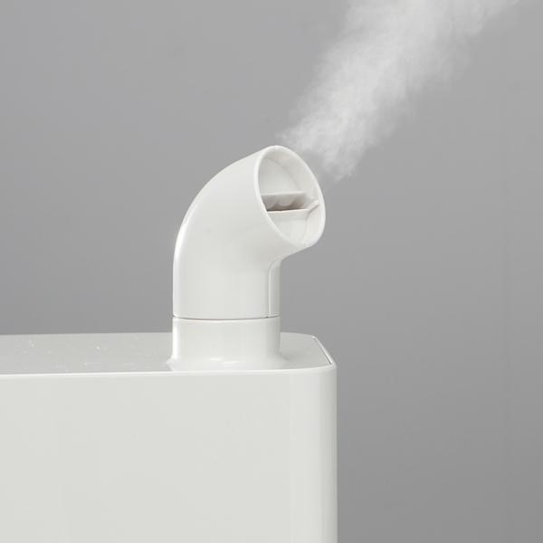 水蒸気の吹き出し口は360度回転させられる