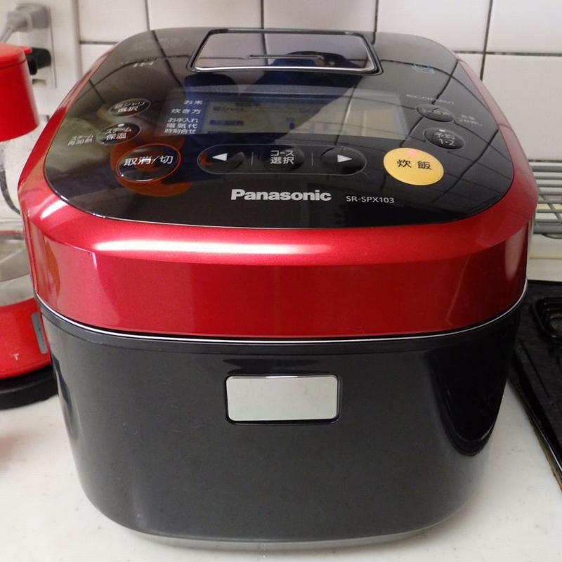 パナソニック「スチーム&可変圧力IHジャー炊飯器」SR-SPX103-W。yodobashi.comでの実売価格は89,700円