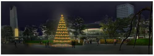六本木ヒルズのクリスマスツリーイメージ