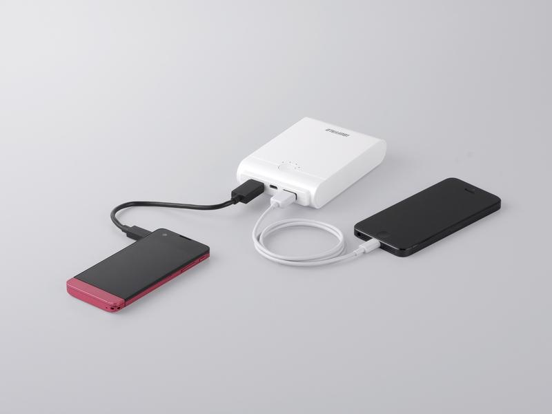 iPhone/iPadやAndroidのスマートフォンを急速充電できる