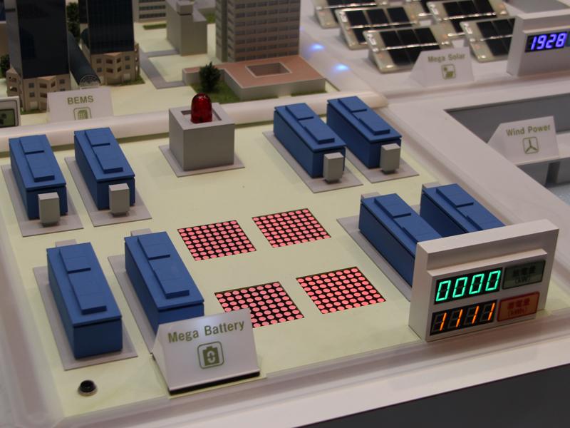 大型の蓄電システムも備えられている