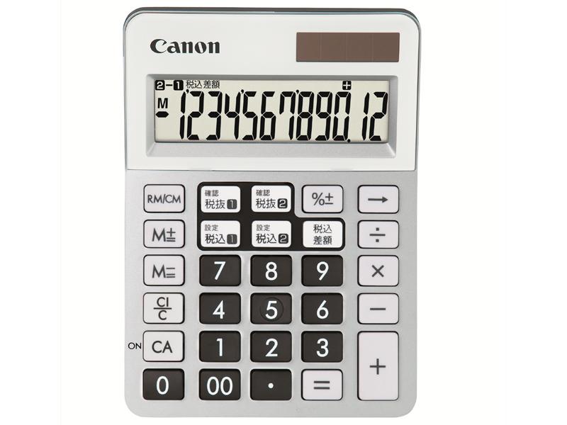 ミニ電卓サイズの「LS-120WT」。5色のカラーバリエーションが用意される。これはシルバー