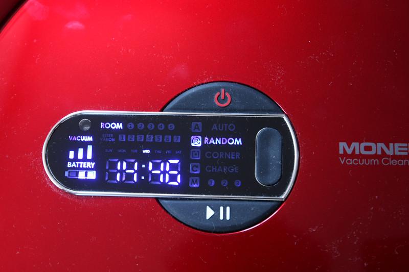 リモコンのモードボタンを押すごとに、清掃モードが切り替えられ、ランダムモードも備えている
