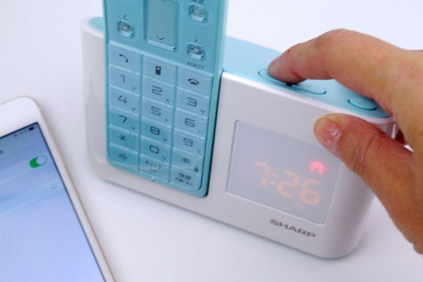 親機側のディスプレイにアイコンが点滅するまで「Bluetooth登録ボタン」を長押しする