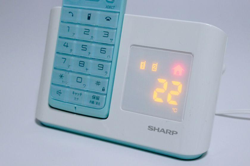 「表示切替ボタン」を押すと、時間から温度に切り替えられる
