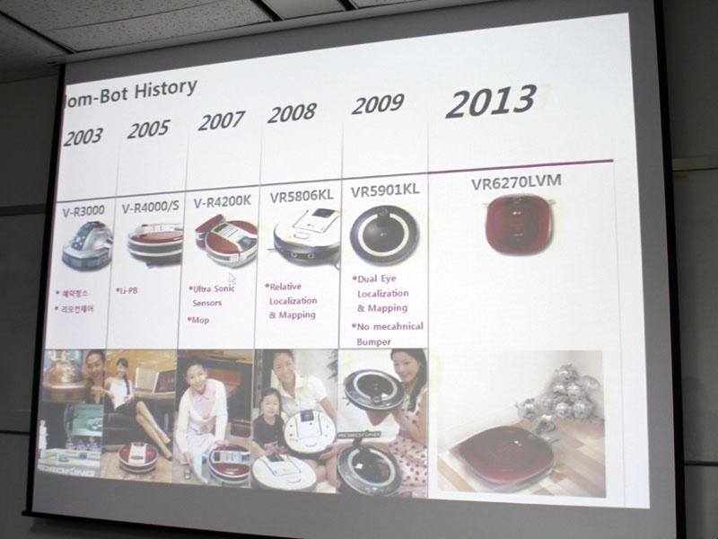 LG electronicsでは、2003年からお掃除ロボットの販売をスタート。当初は円形だった