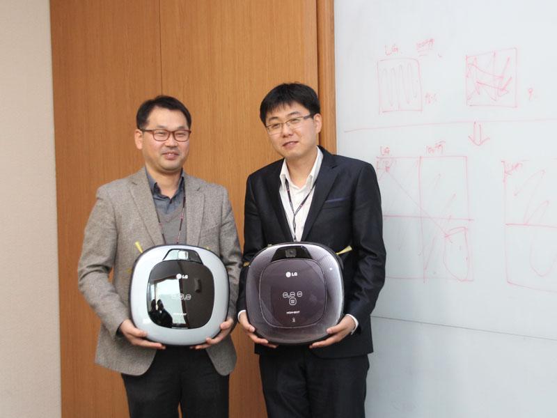 技術を担当しているByung Doo Yim氏(右)と、Bongju Kim氏(左)