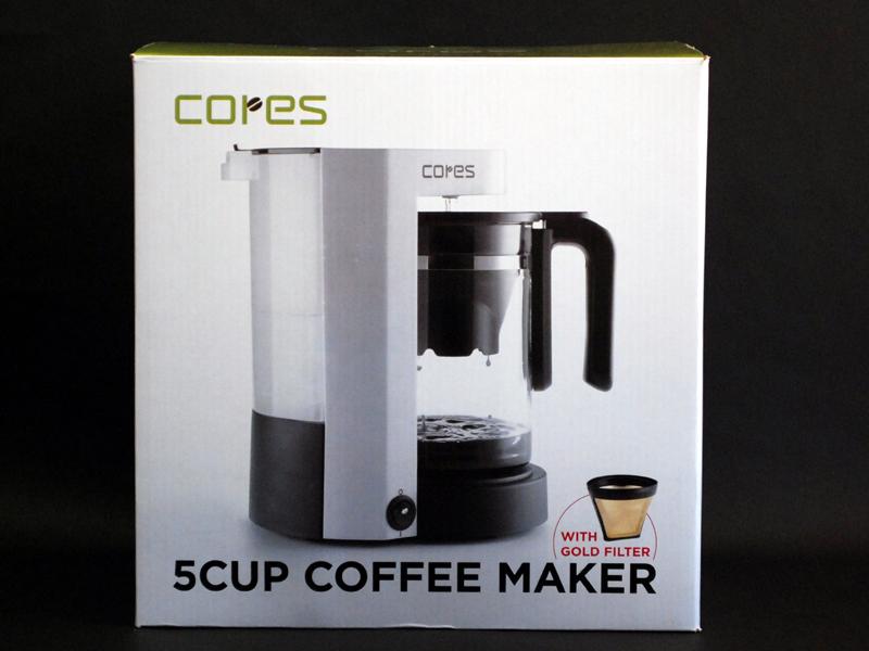 大石アンドアソシエイツ「5カップコーヒーメーカー C301WH」