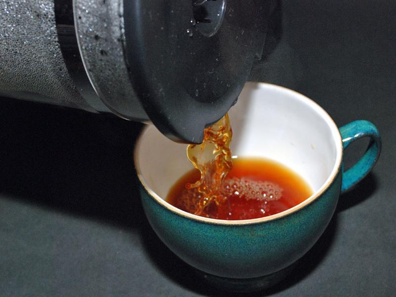 色合いも香りもおいしそうなコーヒーができた