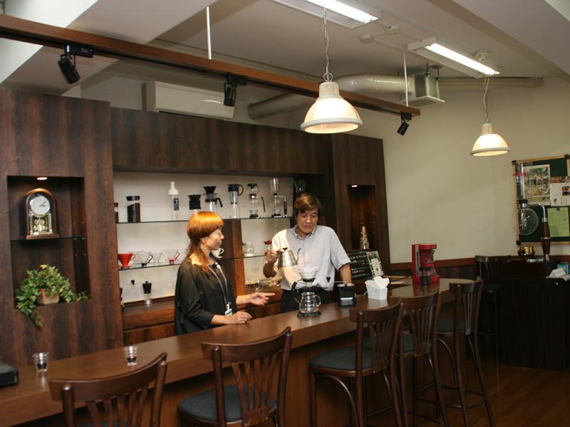 ハリオ本社1階にあるカフェスペース