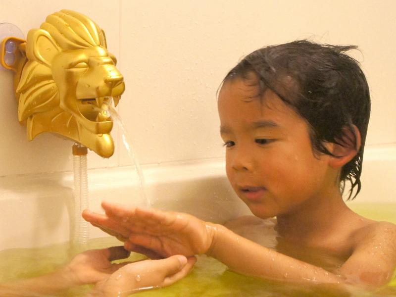 子供は「なぜライオンの口から?」と、よくわからないけど楽しいといった感じ