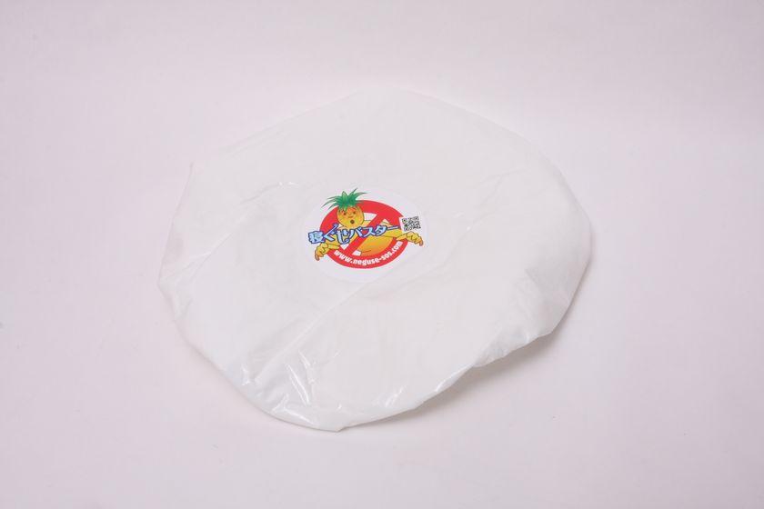 シャワーキャップの内側に吸水性の高い布が貼ってある、寝ぐせバスター