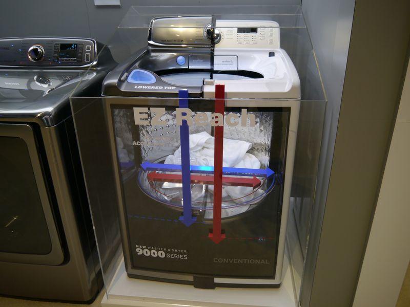 EZ Reachの提案によって、大きな構内でも洗濯物を取りやすくしている