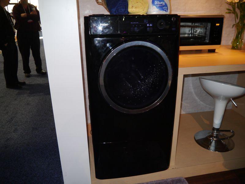 デザイン性を高めた洗濯乾燥機