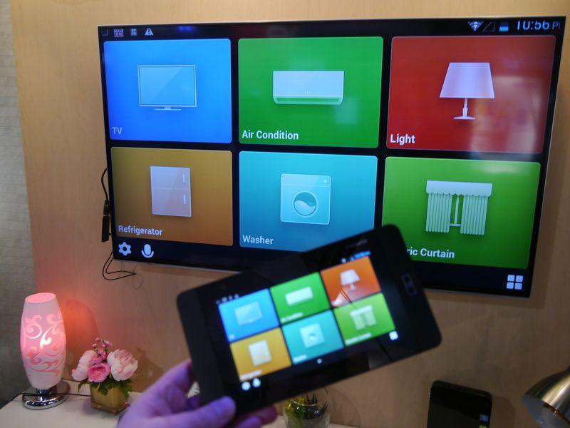 ハイアールはタブレットを利用した家電製品のコントロールをデモストレーション