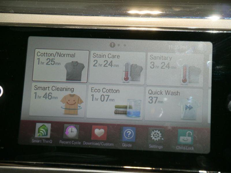 ダウンロードして様々な洗濯方法を選ぶことができる