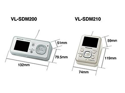 従来モデル「SDM200」は横型だったが、新製品は縦型で設置しやすく、持ち運びやすくなったという