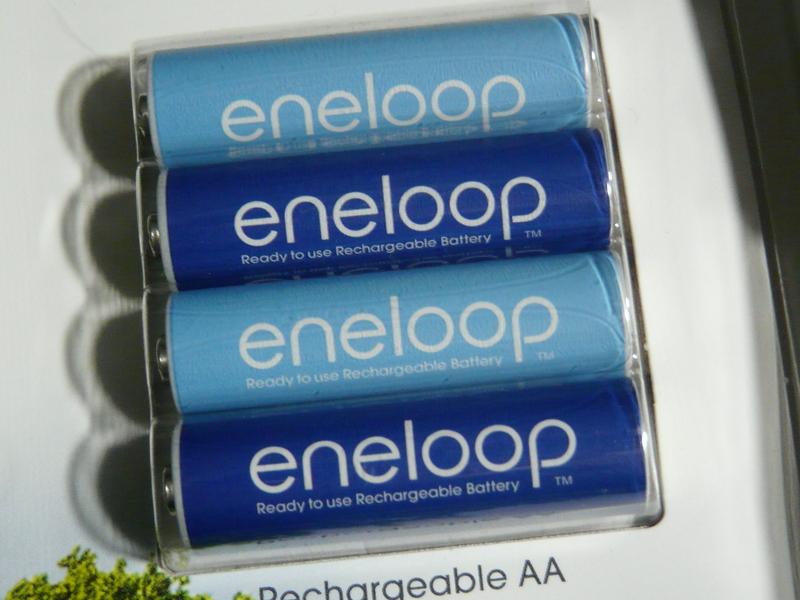 ブルーとライトブルーの単三形eneloop