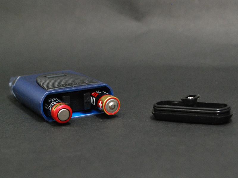 乾電池を入れる方向もわかりやすい