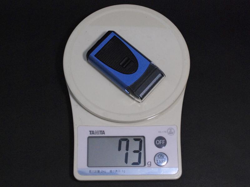 重さは実測で73gと軽い