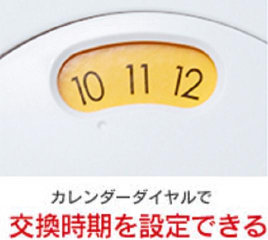 カートリッジの交換目安を伝える「カレンダーダイヤル」を搭載
