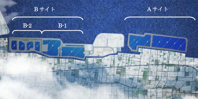 ソフトバンク鳥取米子ソーラーパークの計画図