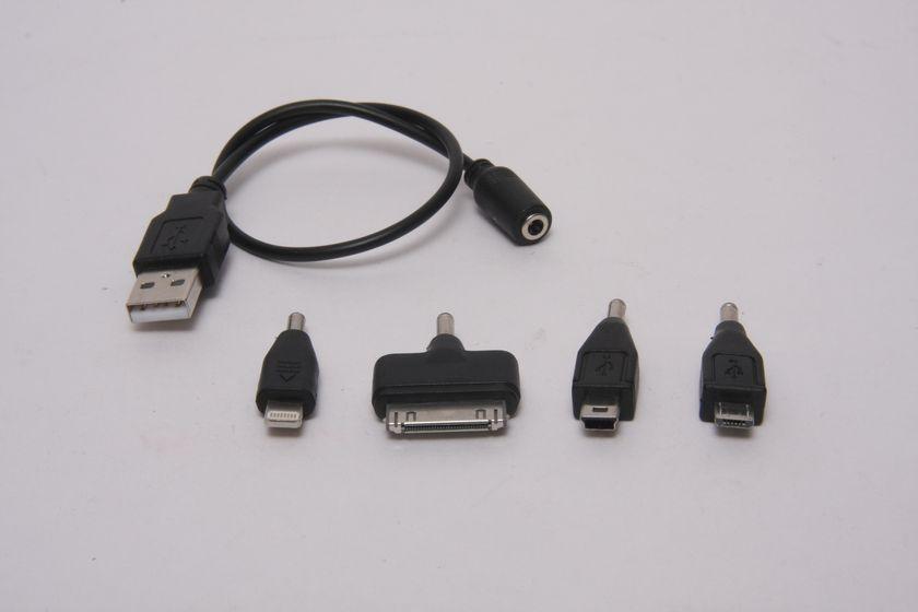 ケーブルは先端のコネクタを付け替える方式