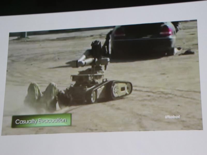 iRobot社のロボット。戦場や爆発処理など、人が進入するのに危険な場所で役立っている
