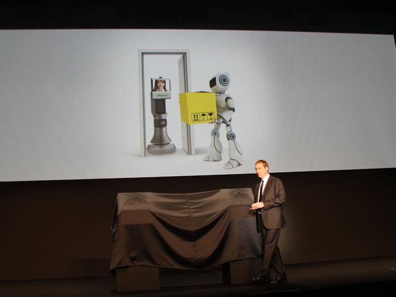 ロボットが宅配するのもそう遠くない未来だという
