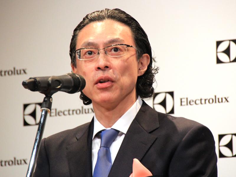 エレクトロラックス・ジャパン スモールアプライアンス事業部の長岡慶一ジェネラルマネージャー