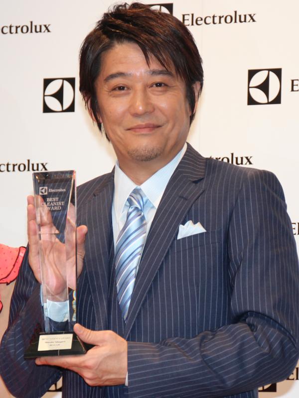 俳優の坂上忍さんが「エレクトロラックス・ベストクリーニスト賞」を受賞