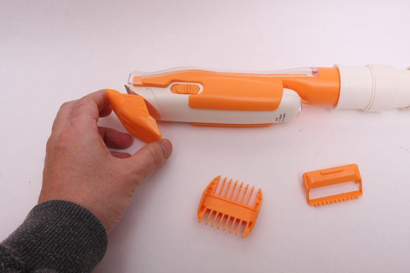 6)必要に応じて毛の長さを決めるアタッチメントをつける