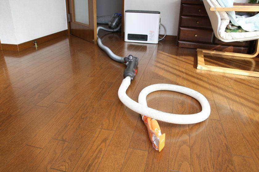 ホースは長いので掃除機本体を部屋の外に出せば、掃除機を怖がるペットも安心
