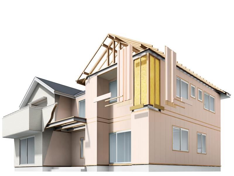 壁や床、窓などに断熱効果の高い建材が配されている