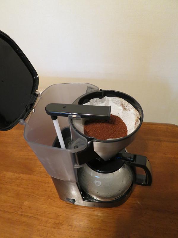 コーヒー豆を入れた状態