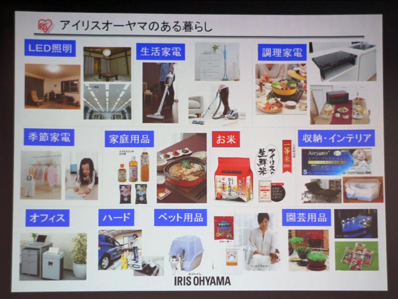 アイリスオーヤマでは、様々なジャンルの製品を扱う