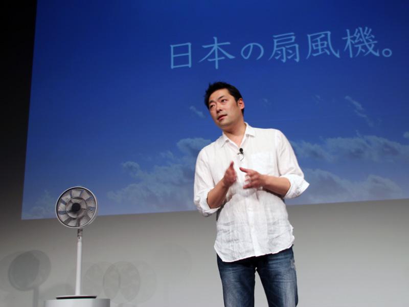「GreenFan Japan」と、バルミューダ 代表取締役社長の寺尾玄氏