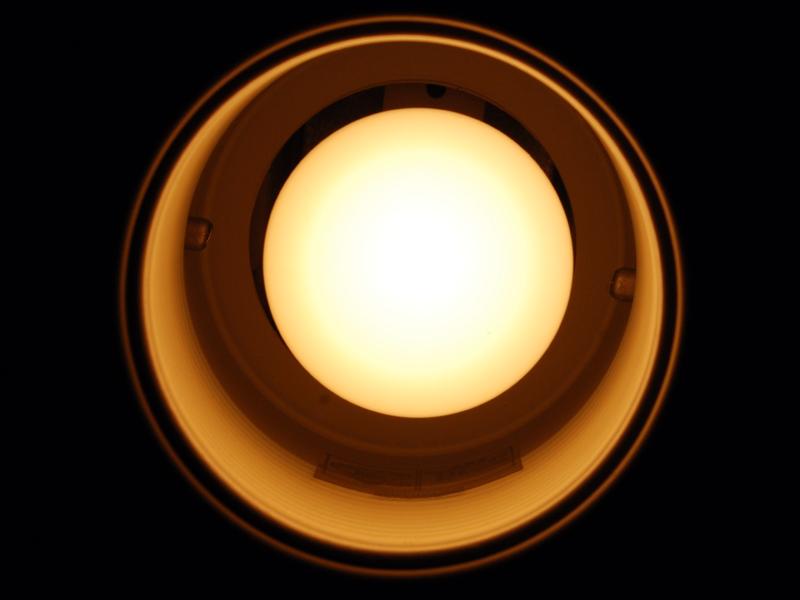 電球の周囲に余裕があるので、発熱の不安が少ない
