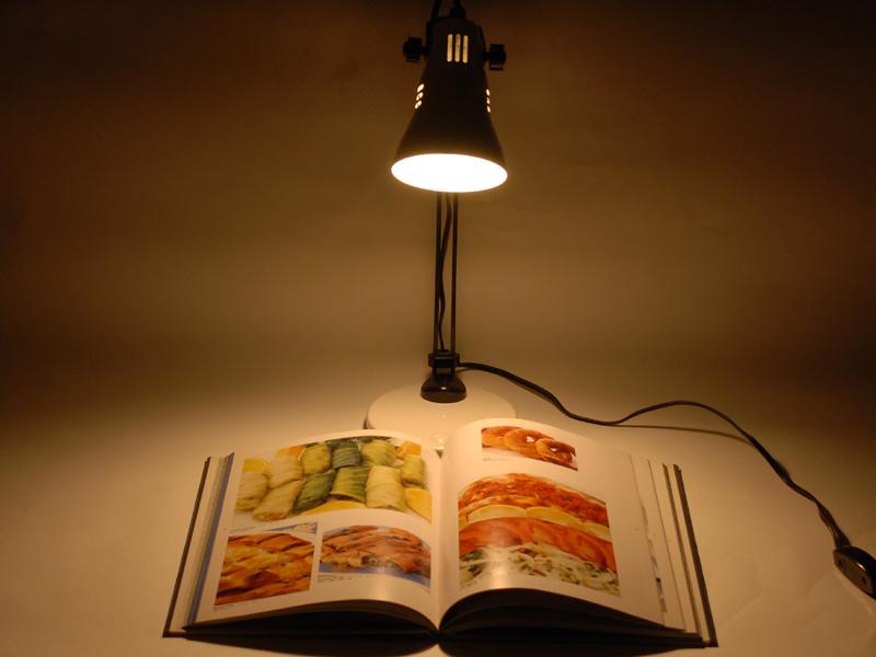高さが30cm弱ある大判の書籍でも余裕を持って照らせる