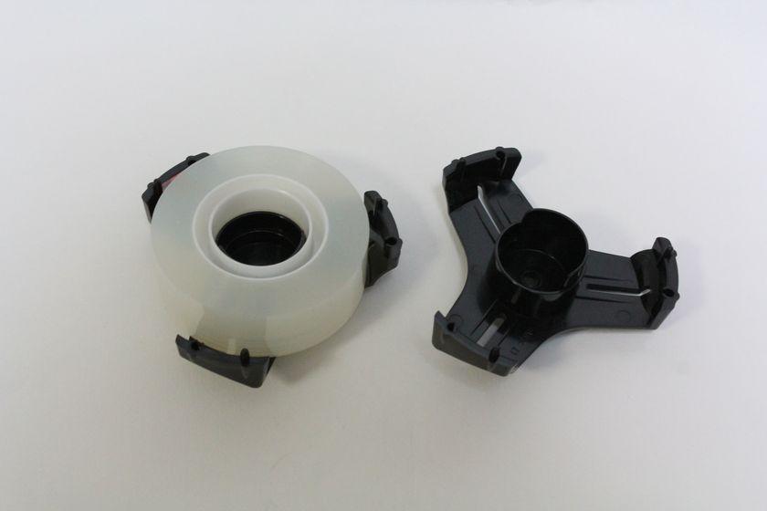 リールを小巻きテープの場合はリールを分解してセットする