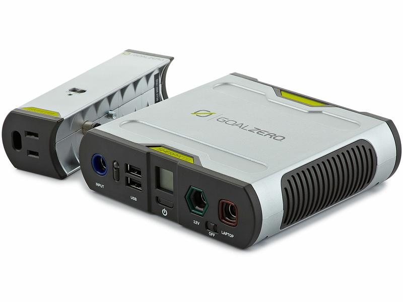 別売りのインバーター「Sherpa Inverter AC Inverter V2」を接続すると、AC100Vの出力にも対応する