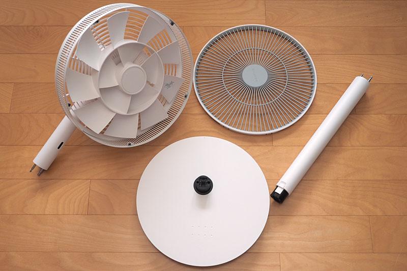 「GreenFan Japan」は、開梱後にユーザーが組み立てるタイプの扇風機ですな