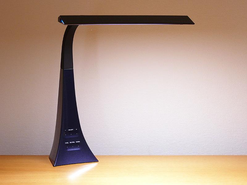 ツインバード工業「LEDスタンド SWISH LE-CD1500SG」 ネイビーブルー