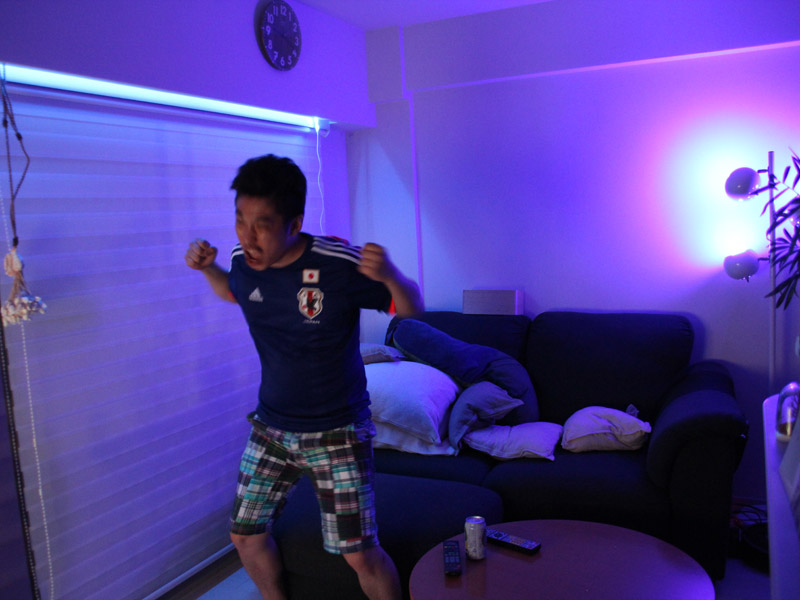 ジャパンブルー一色でW杯応援モード