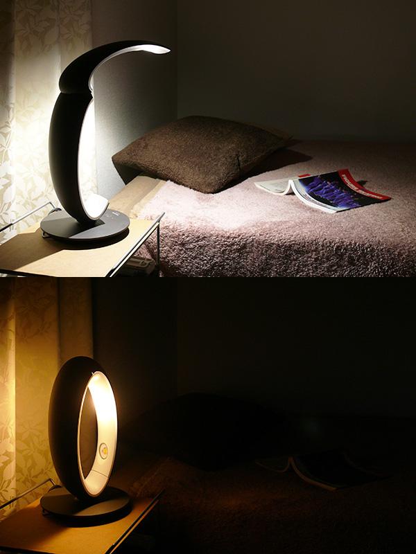 ベッドサイドに最適。読書灯、眩しさをコントロールしたナイトライトとしてどちらも重宝する