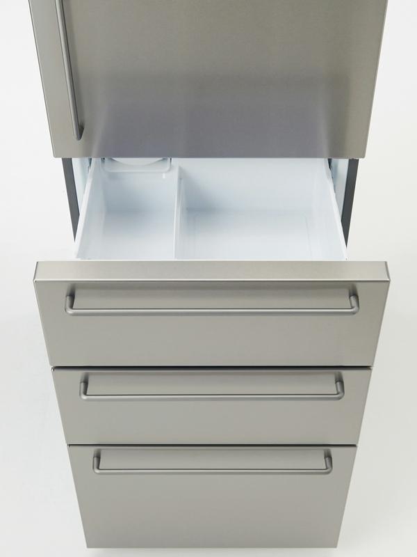 上下2段の冷凍室は容量89L