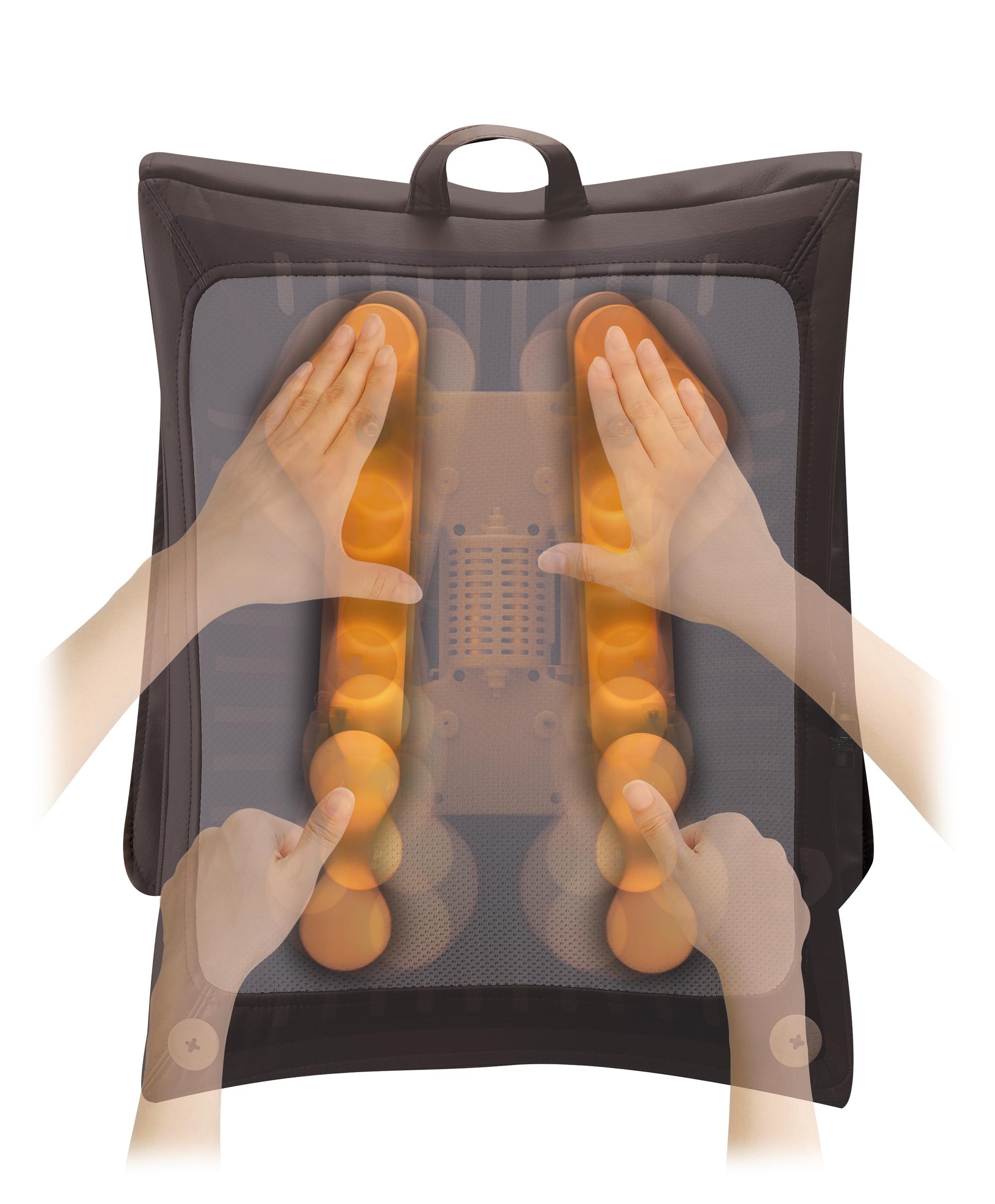 「さすり揉み」と「振り子揉み」を組み合わせて心地よいマッサージを提供するという