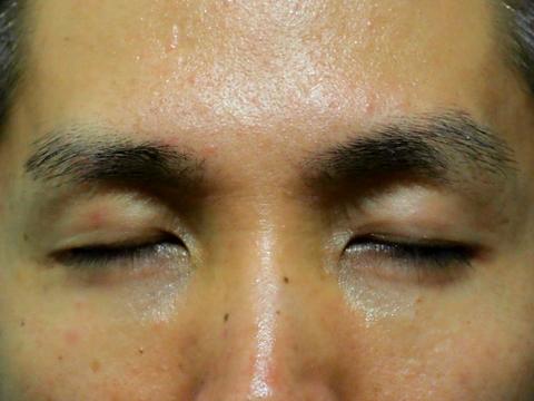 向かって左側がトリミング後の眉毛で、右側が未処理の眉毛だ