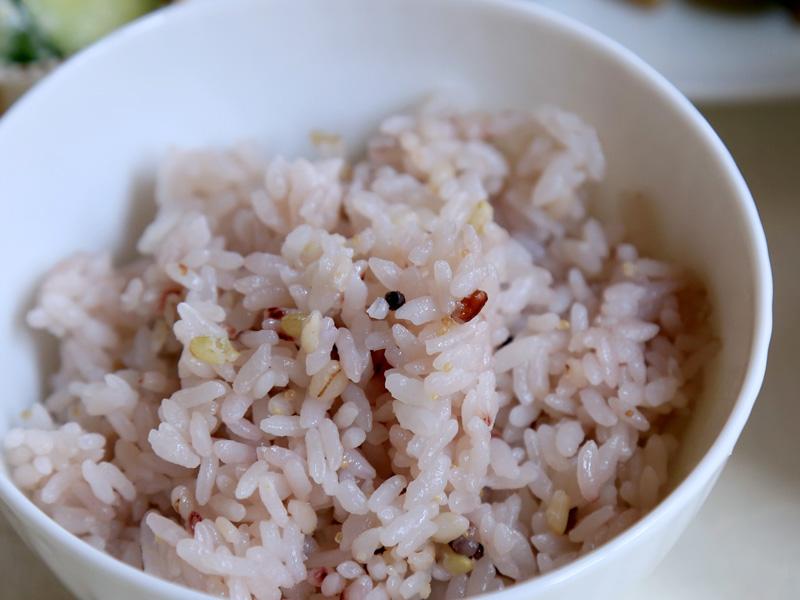 「雑穀米」モードで炊いてみた