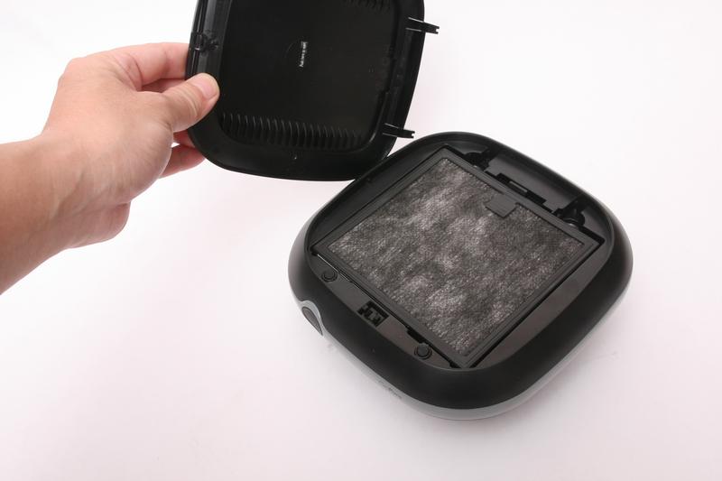 GoPure Compactは、カートリッジ式のフィルターが内蔵されている空気清浄機。イオン発生器とは異なる。